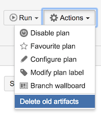 delete old artifacts button