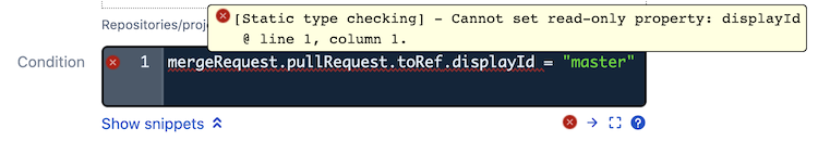 type checked condition